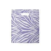 Sacola plástica Boca de Palhaço Estampada - Zebrada Bco/Lilás - 40x50cm - Pacote 40 unid (1 KG)