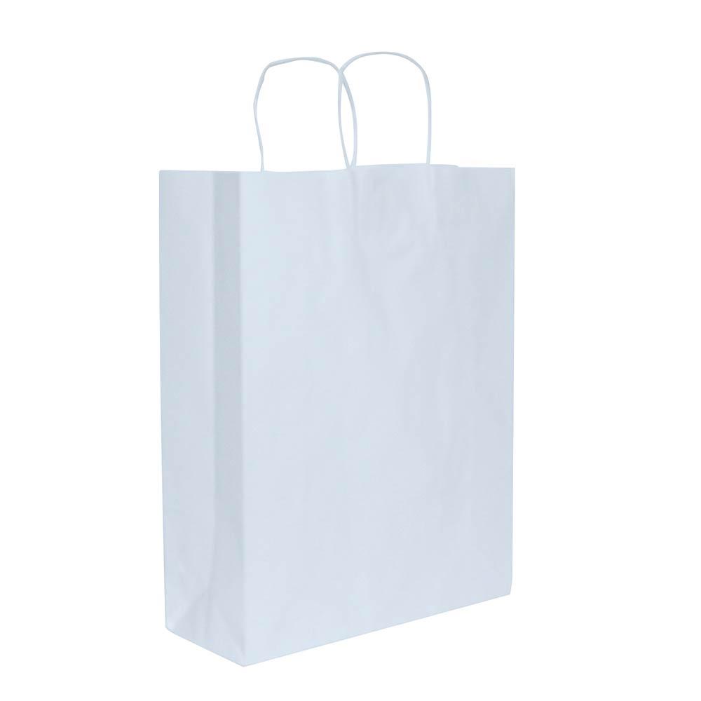 bab5fec28 Sacola de papel Kraft - Branco - 24x33cm - Pacote 10 unidades (Gramatura  90g) ...
