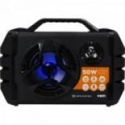 Caixa de Som Portátil 50W Bluetooth/MicroSD/USB/FM HS01 Preta HAYONIK
