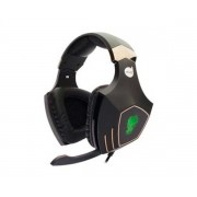 HEADSET GAMER DAZZ ROCK PYTHON 7.1 PRETO COM LED VERDE