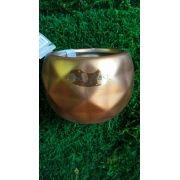Vaso luxo cobre relevo