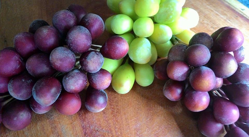 Cacho de uvas- valor unitário
