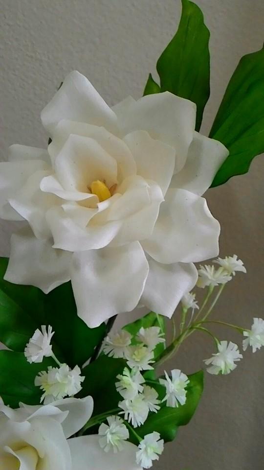 Gardenias e Gipsofila