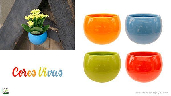Vaso cores vivas azul