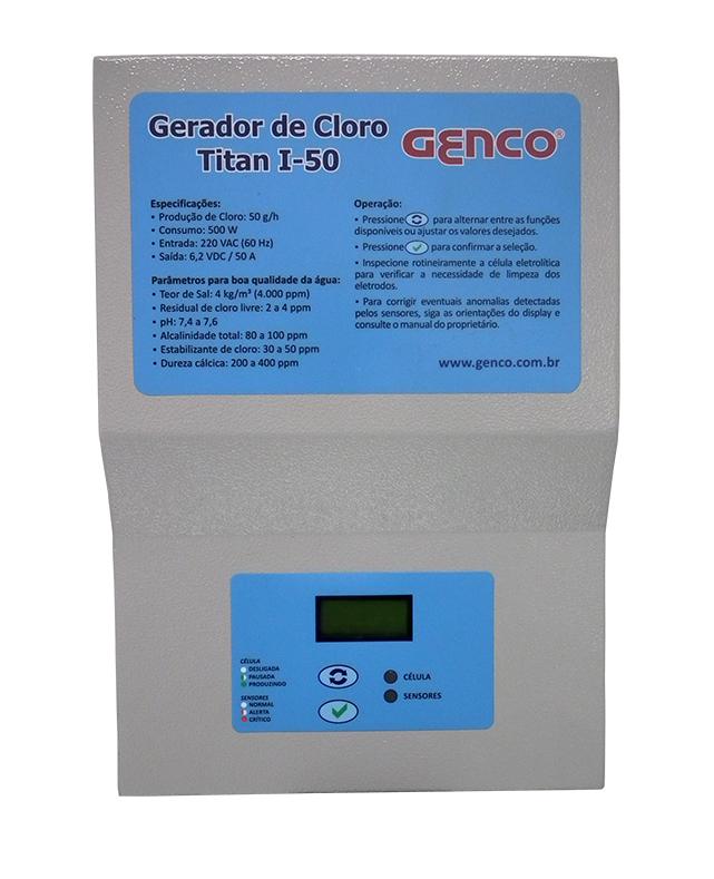Gerador de Cloro Série Titan - Modelo I-50