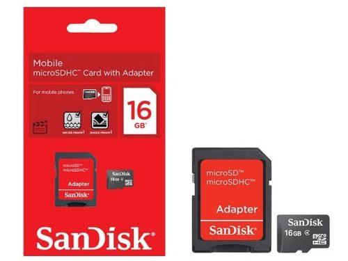 Cartão De Memória Micro Sd 16gb Sandisk Lacrado Original