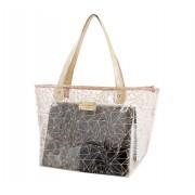 Bolsa Shopper Transparente Bege
