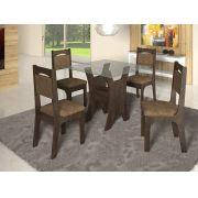 Mesa veneza  4 cadeiras 100% MDF c/ vidro diretamente da fabrica