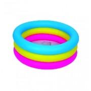Piscina Inflável com 3 Anéis Coloridos 88 Litros