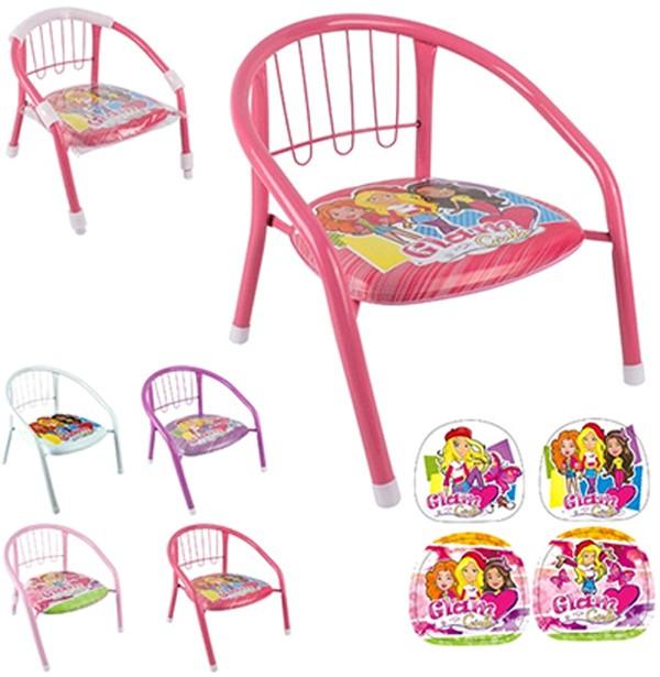 Cadeira de Metal infantil Glam Girls colors com Som