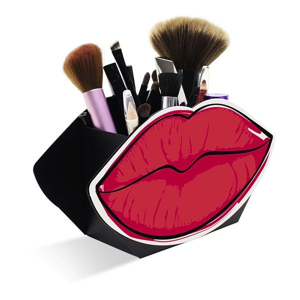 Caixa Display de Maquiagens Boca Vermelha