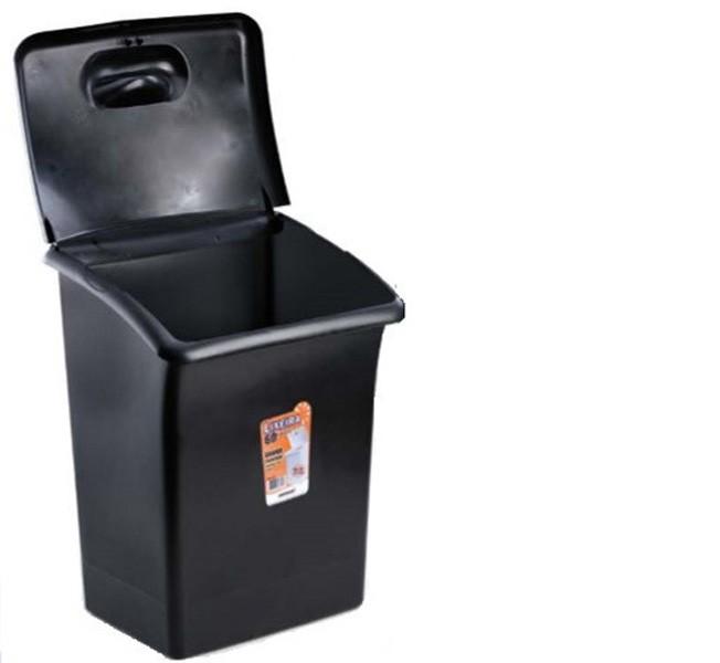 Cesto de Lixo Preta com Tampa 60 Litros