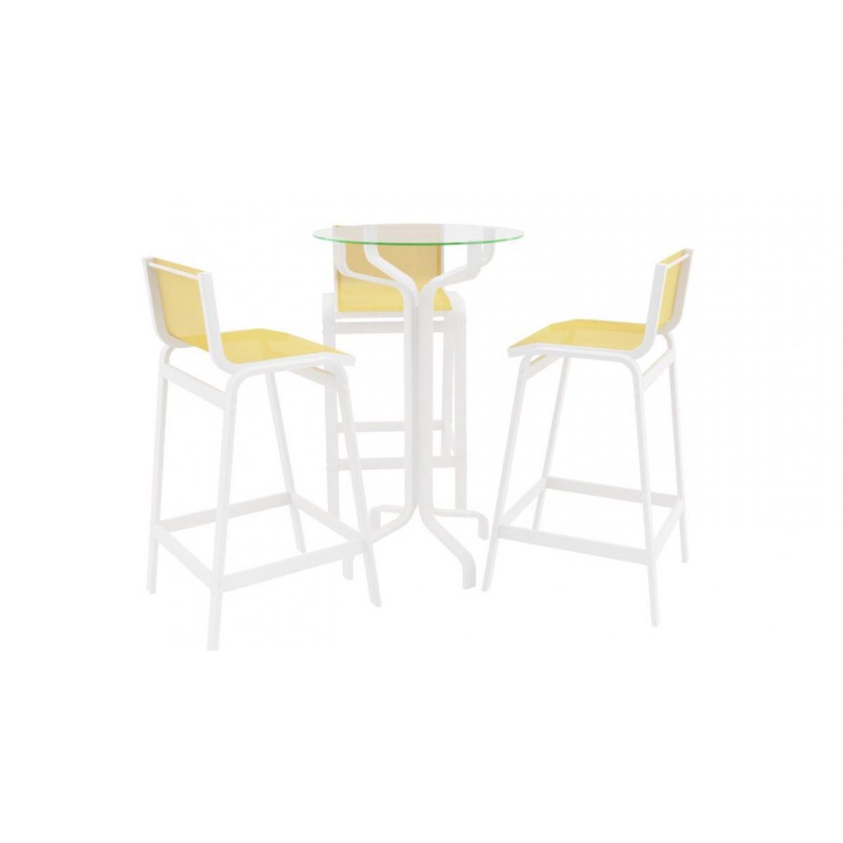 Conjunto 3 Banquetas Alta de Alumínio Cozinha, Sala, Sala de Jantar, Jardim