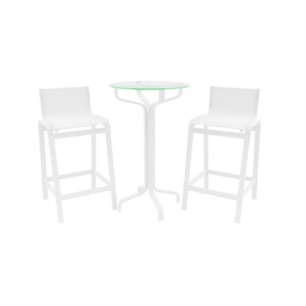 Conjunto com 2 Banquetas Altas de Alumínio Cozinha, Sala, Sala de Jantar, Bar, Jardim