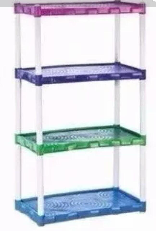 Estante Plástica Modelar Grande Colorida Com  4 Prateleiras