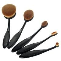 Pincéis para Maquiagem Escovas Ovais kit com 5 - New MakeUp