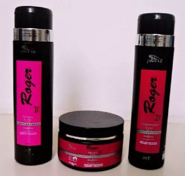 Tratamento  Kit Max Liss By Roger (shampoo/condicionador/mascara)Kit Max Liss