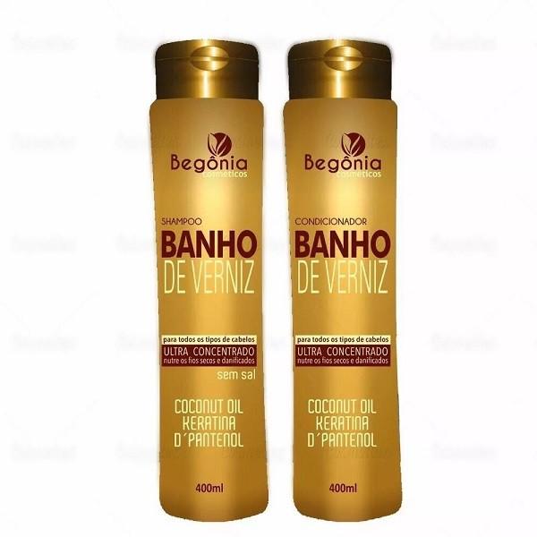 Kit Shampoo e Condicionador 400 ml Banho de Verniz