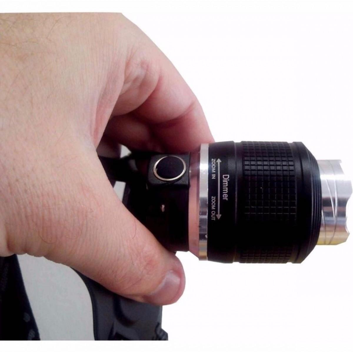 Lanterna De Cabeça  Led com Zoom para Ciclista, Pesca, Camping