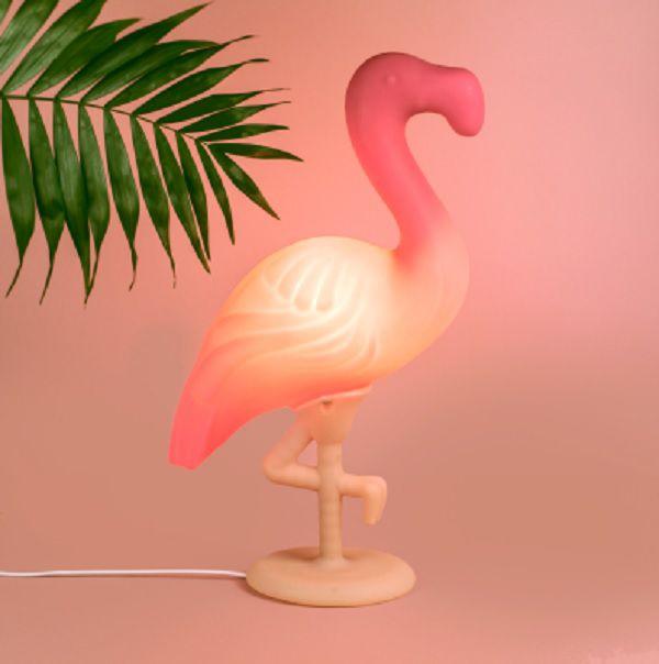 Luminária de Mesa Flamingo Rosa