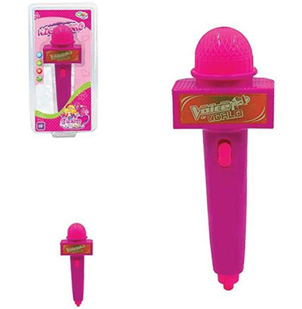 Microfone Infantil Glam Girls com Espelho + Som e Luz a Pilha