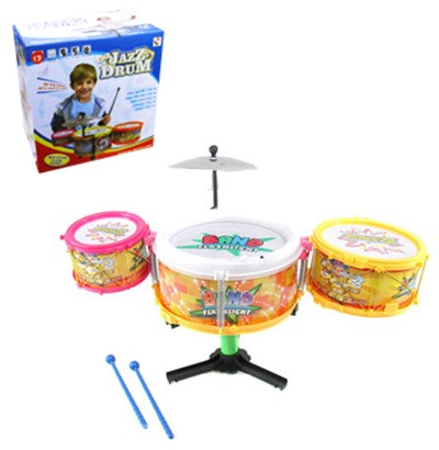 Mini Bateria Musical Infantil Band Jazz Drum