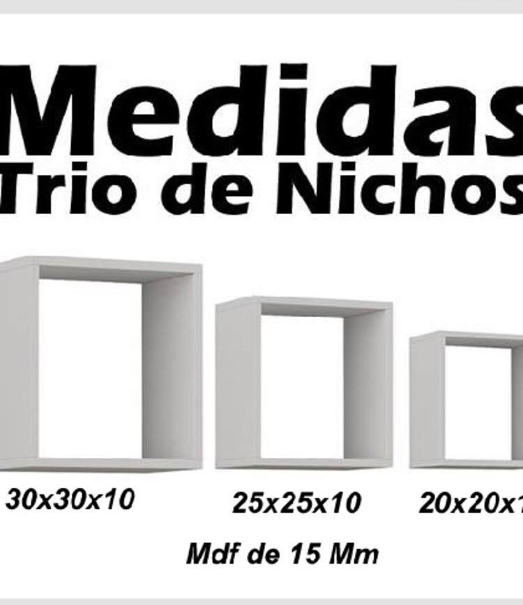 Nichos Decorativos Inclue 3 Nichos em MDF