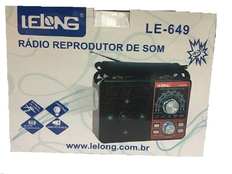 Rádio Reprodutor de Som Lelong LE 649