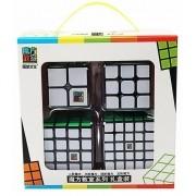 Kit Cubo Moyu 2x2 3x3 4x4 5x5 Preto