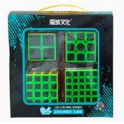 Kit Cubo Moyu Carbono 2x2 3x3 4x4 5x5