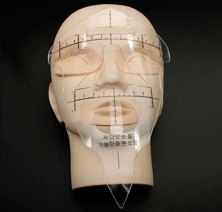 Régua Full Face para Medição de Sobrancelhas