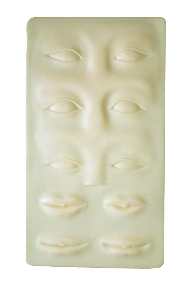 Pele Artificial 3D para Treinamento - Olhos/Sobrancelhas/Boca