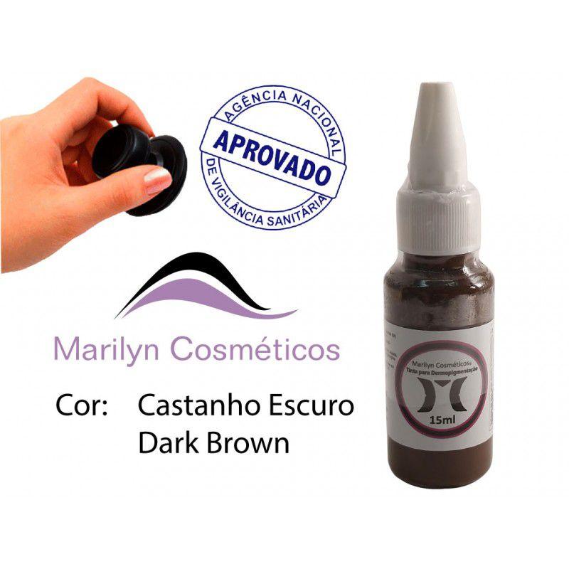Pigmento Castanho Escuro - 15ml