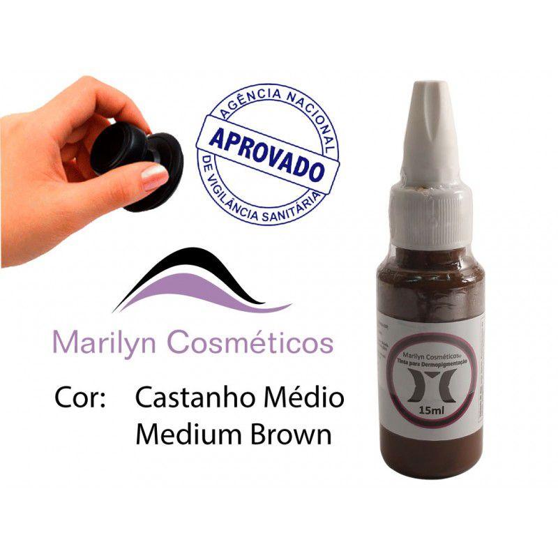 Pigmento Castanho Médio - 15ml