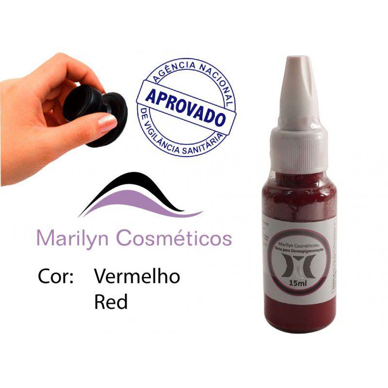 Pigmento Vermelho (Rubi) - 15ml
