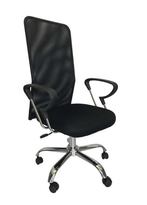 Cadeira Marte Presidente em Tela Mesh Cromada