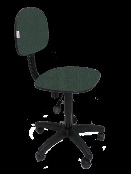 Cadeira Secretaria Giratoria Polo Tecido J. Serrano Verde / Preto