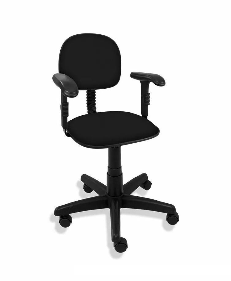 Cadeira Secretária Giratória Polo com Braço Regulável
