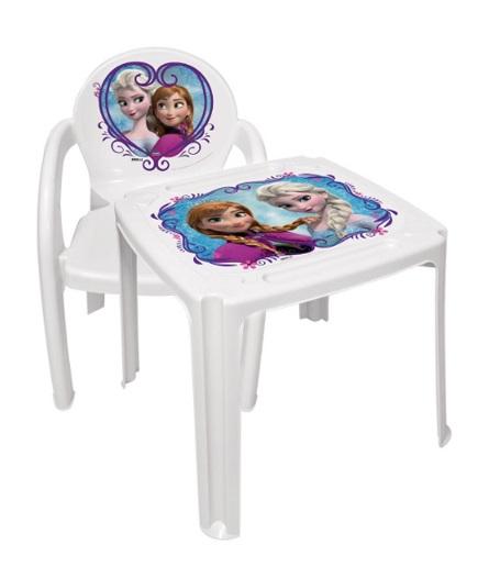 Conjunto Mesa + Poltrona Infantil Frozen
