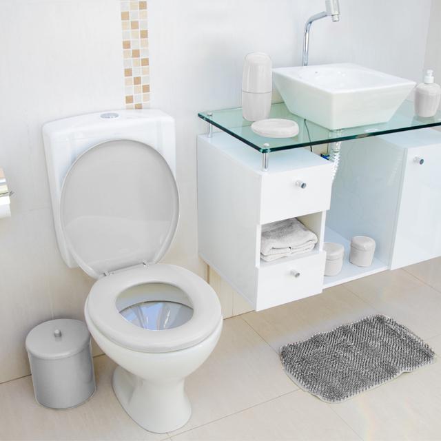 Assento Sanitário Almofadado Tpk/As Branco Astra  - Casa São Luiz