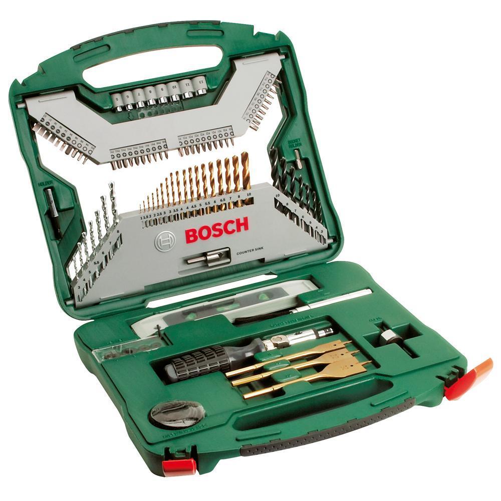 Bosch Kit Jogo Xline Titanio 103 peças  - Casa São Luiz