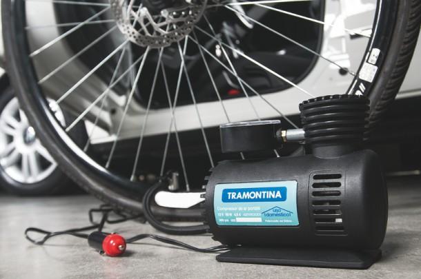 Compressor de ar portátil 50W - 12v Tramontina  - Casa São Luiz