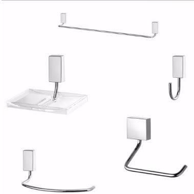 Kit Acessórios Para Banheiro 5 Peças Aço Inox C30 Lorenzetti  - Casa São Luiz
