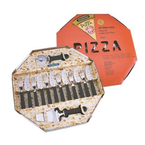 Kit para Pizza 14 peças - Tramontina  - Casa São Luiz