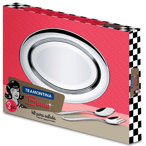 Kit para Salada 3 peças Buena - Tramontina  - Casa São Luiz