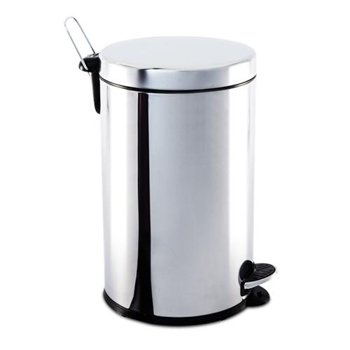 Lixeira Inox com Pedal e balde 12 litros  - Casa São Luiz