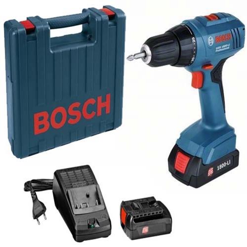 Parafusadeira/Furadeira Bosch GSR 1800 C/ Maleta 220V  - Casa São Luiz