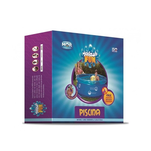 Piscina Splash Fun Ø1,65m x 55cm  1000L - MOR  - Casa São Luiz