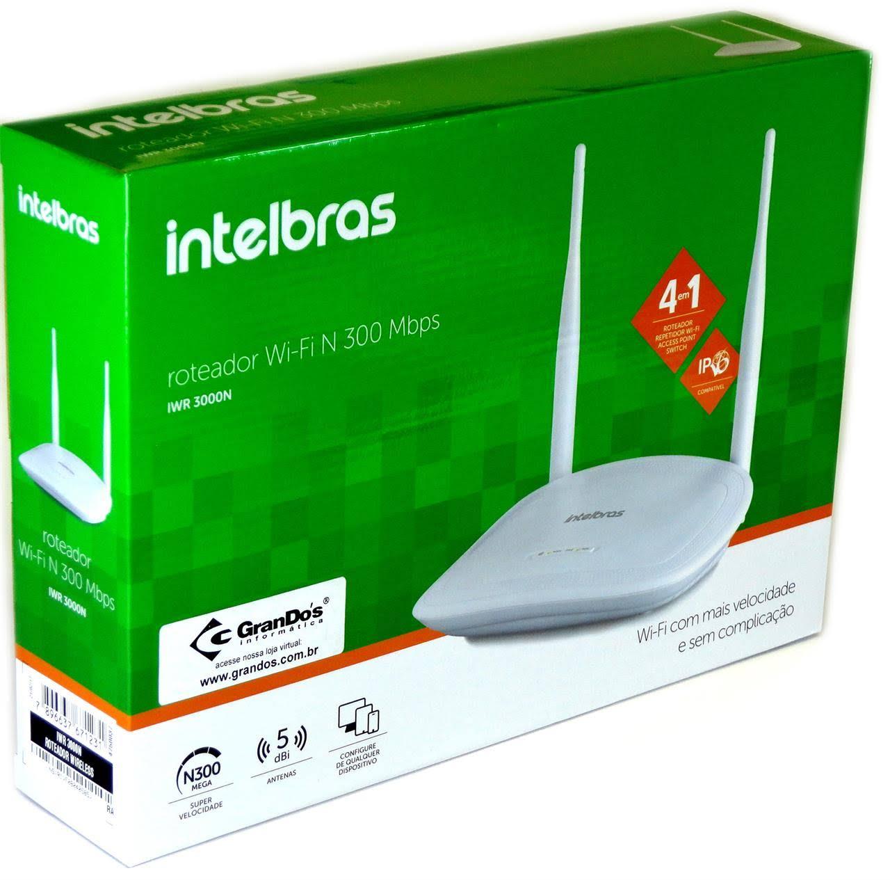 Roteador Intelbras Wireless MR 3000N  - Casa São Luiz