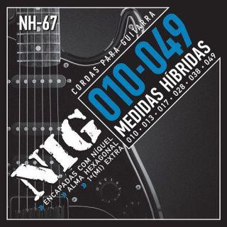 Encordoamento Para Guitarra Nig NH67 Hibrida 010 Extra